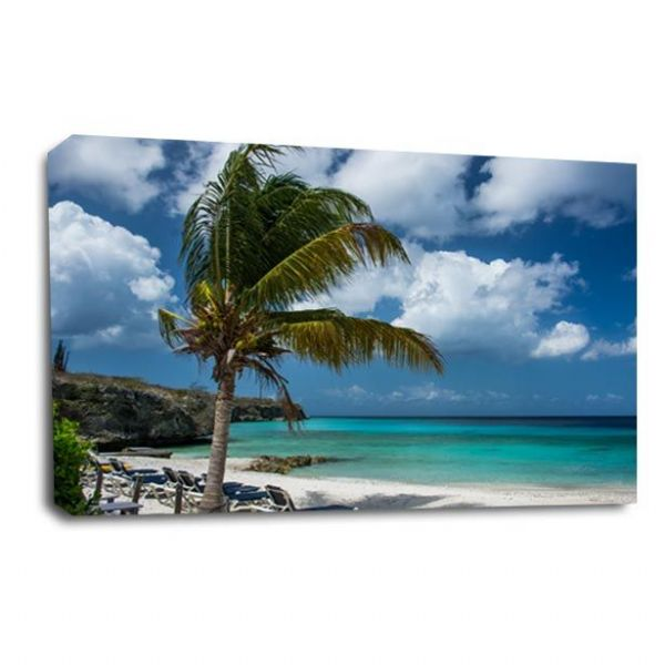 Seascape Tropical Wall Art Picture Palm Island Beach Sand Print